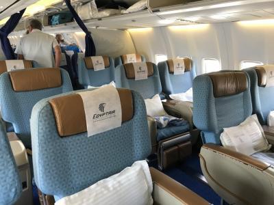 エジプト航空ビジネスクラス搭乗記 ジュネーブ→カイロ とスイスの美味しい食事