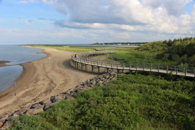 カナダ東部5州、ドライブ旅行2018 Day4-3(夕方、散歩しにIrving Eco-centre, la Dune de Bouctoucheへ)