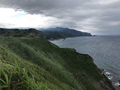 悪天候の北海道