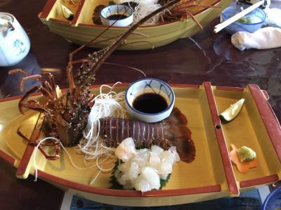 旦那はそっちのけで友達と二人で「志布志大黒リゾートホテル」に伊勢エビ祭りのランチを食べに