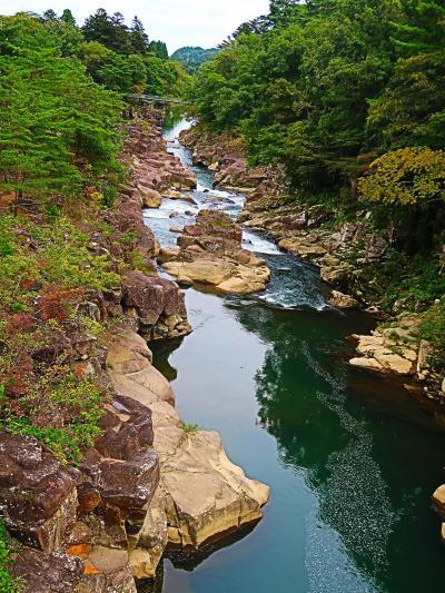Mystery-4 厳美渓(絶景1)磐井川中流の渓谷 ☆「空飛ぶだんご」が名物