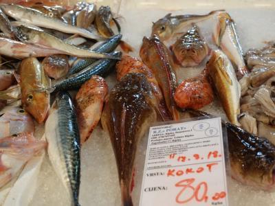 2018SWイストラ半島その5~リエカの魚市場は活きがいい