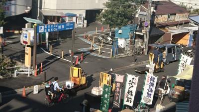 早朝散歩【築地市場→波徐神社→築地本願寺】