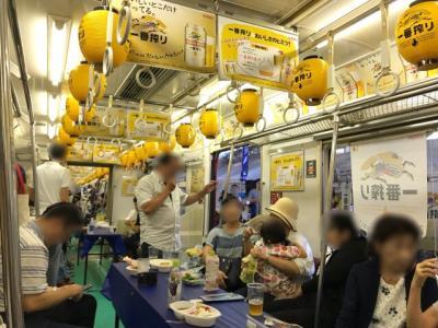 第2回京急川崎ステーションバル2018~停車中の電車と駅のホームがバルの会場に!~