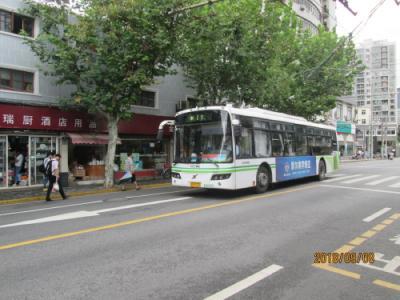 上海の旧県城城壁の址・中華路・人民路・循環バス