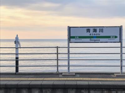 週末パスで行く「絶景駅」を巡る旅③(終) 長野~青海川~東京