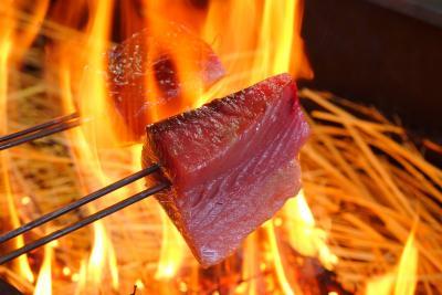 夏の高知旅3*自分で焼ける!カツオの藁焼き体験