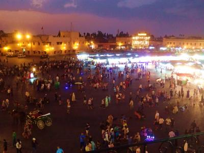モロッコマラケシュ・フェズ・カサブランカ周遊記①マラケシュ編その1フナ広場の夜景を中心に