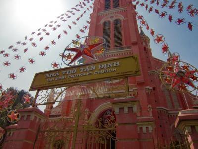 シンチャオ!ベトナム・ホーチミン☆インスタ映えで人気のピンクの教会・タンディン教会を訪ね、BANH XEO 46Aでランチ♪