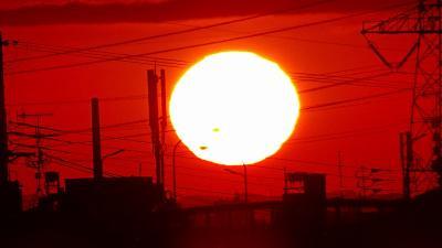 早朝散歩 宝塚市安倉上の池の日の出 中巻。