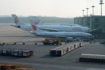 シルクロード新疆ウイグルへの旅・・・帰国の空旅2、北京空港から日本へ
