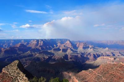 2018年夏休み グランドサークル2200㎞の旅⑤ 5・6日目 グランドキャニオン国立公園とサンライズ