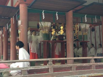 石清水八幡宮を参拝して、果てしなく続く祈祷の様子を眺めました