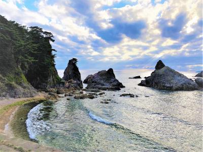 2018 AUG 新潟巡り4日間の旅 (3/8)景勝地・笹川流れと与謝野晶子が数多く歌を詠んだ瀬波温泉