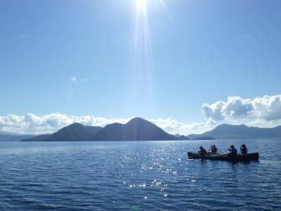 巨大台風24号の直前、絶景の洞爺湖でカヌー体験 (前日扁)