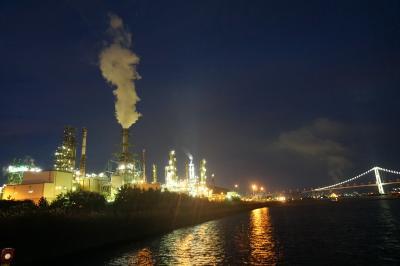 室蘭工場夜景と白鳥大橋