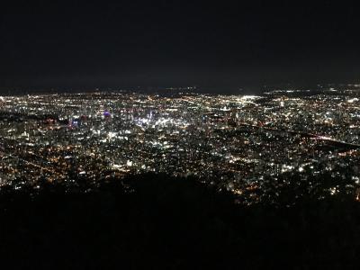 初秋の小樽、札幌旅行(後編)藻岩山の夜景を堪能、宿泊はANAホリデイ・イン札幌すすきの