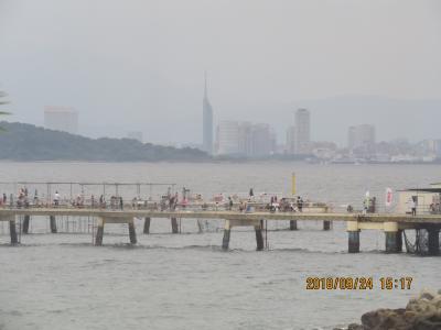 9月の福岡への旅⑰福岡市海釣り公園付近の風景