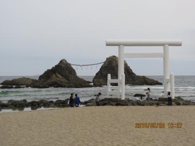 9月の福岡への旅⑱桜井二見ヶ浦夫婦岩付近の風景