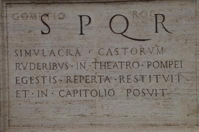 SPQR&パラティーノの丘に立つ(コロッセオ、フォロロマーノ):2018ローマⅢ