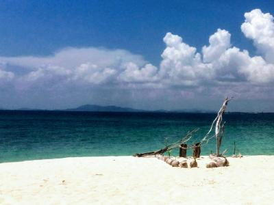 深夜便で3歳と行くビンタン島&シンガポール③White Sand Island(Blalas Island)