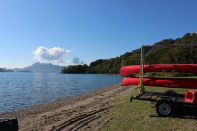 巨大台風24号の直前、絶景の洞爺湖でカヌー体験 (当日編)