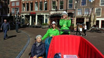 車椅子の妻と 第20弾コーニングスダム オランダ:ハーレム