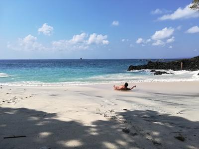 2018GW バリ島(26) パダンバイからバイクでお出かけ!ホワイトサンドビーチが二個ある!!