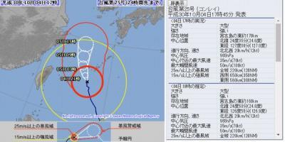 沖縄(番外編6)台風25号現況10月4日18時 石垣島