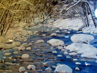 サッポロビール那須の森のビール園で「ちぎり絵作品展」を見てきました。