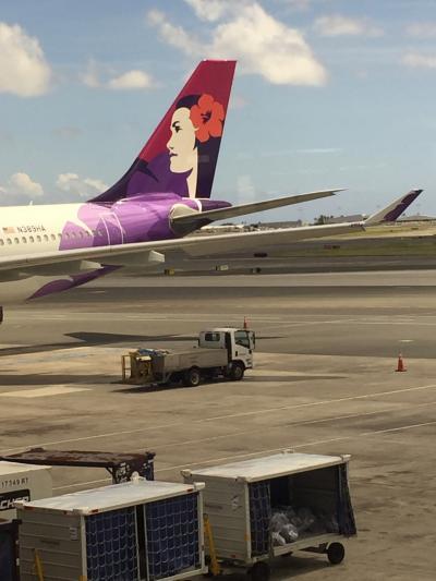 ハワイアン航空 JALコードシェアで 瞬く間にUSに帰国w