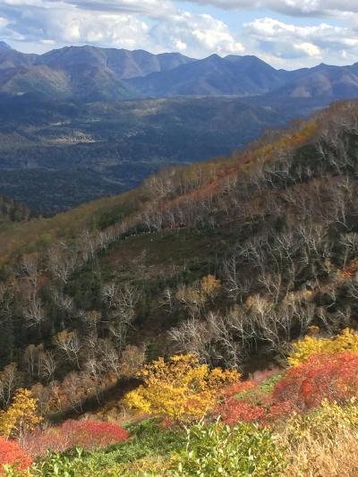 銀泉台の紅葉と糠平温泉