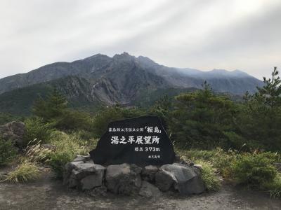 鹿児島出張、桜島宿泊の旅。