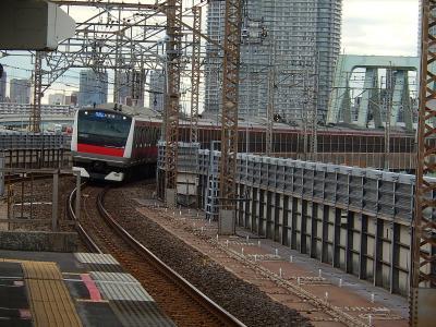 JR新木場駅から見られる風景