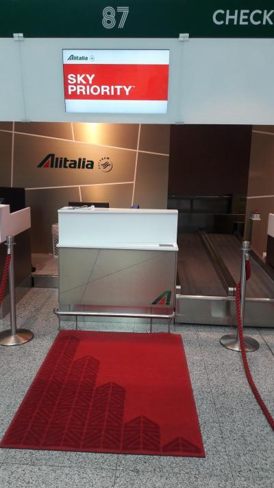 2018SEP・AZアリタリア航空・ローマ⇒カイロ・ビジネスクラス搭乗記・ローマのCASAラウンジが綺麗になっていました。