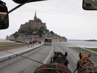 フランスでドライブ旅行2018 ⑰馬車でモン・サン・ミッシェルへ