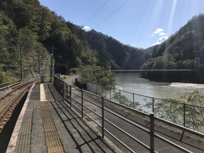 飯田線秘境駅巡り:為栗駅、橋からの眺め