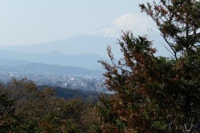 大平平から半分見える富士山-2018年秋