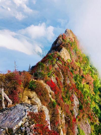 秋の石鎚山 UFOライン