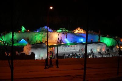 *19'2月冬。2歳児と行く「層雲峡温泉」子連れ旅行記。。。雪と氷と花火を楽しむ「氷瀑祭り」と宿泊は「朝陽リゾートホテル」へ☆