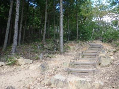 竹田城退城ルートは表米ルートを取る。一番きつい登山道でした。