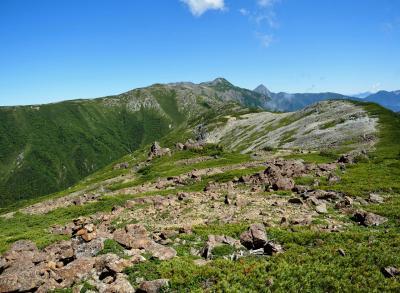 農鳥岳~笹山 / 白峰南嶺踏破のために-その3