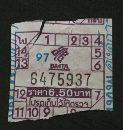 バンコク市内バスは超便利