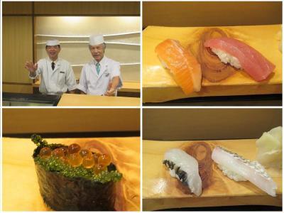 沖縄2018秋(4)アリビラ初日は寿司カウンターで大将に会わないと始まらず!食べ放題でおなかいっぱい!