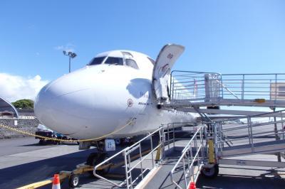 2018.10 ハワイ島ツアー(1)飛行機乗り継いでコナ空港へ