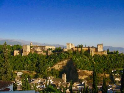 スペイン・グラナダをちょっとだけ☆hibiscusさん、大好きなアルハンブラ宮殿を訪ねる♡