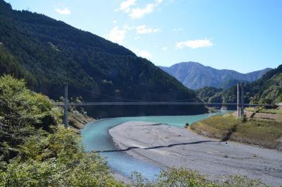 大井川上流へドライブ 2018.10.24 2.接岨峡温泉