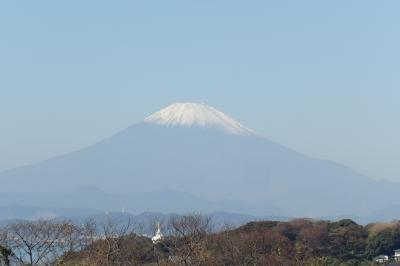 鎌倉広町緑地・富士見坂から見る富士山-2018年秋