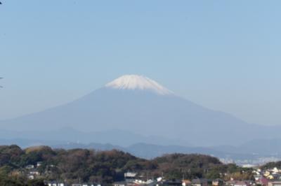 鎌倉広町緑地・富士山展望所から見る富士山-2018年秋
