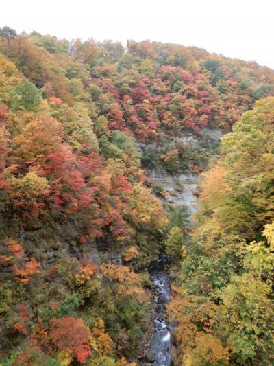 秋の小安峡と平泉